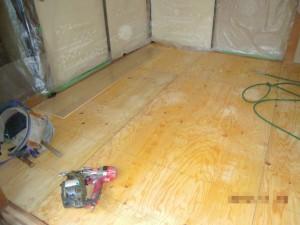 床材の変更下地合板