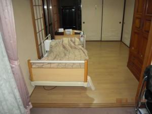 床材の変更フローリング