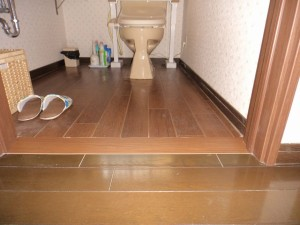 トイレの段差解消