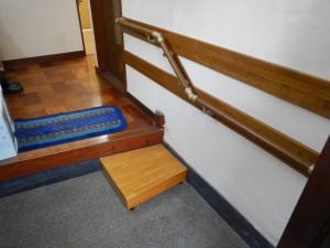 玄関框手摺と踏み台